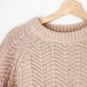 H&M Knit Sweater for Fall Tan Beige Light Brown XS